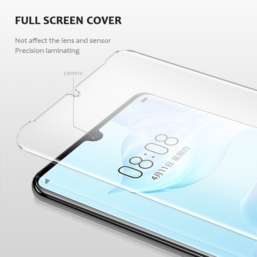 Image 5 - Nano Liquid UV Glue Tempered Glass For Huawei P30 Pro lite P20 Pro lite Liquid Protector Glass For Huawei Mate 20 Pro Lite 20 RS-in Phone Screen Protectors from Cellphones & Telecommunications