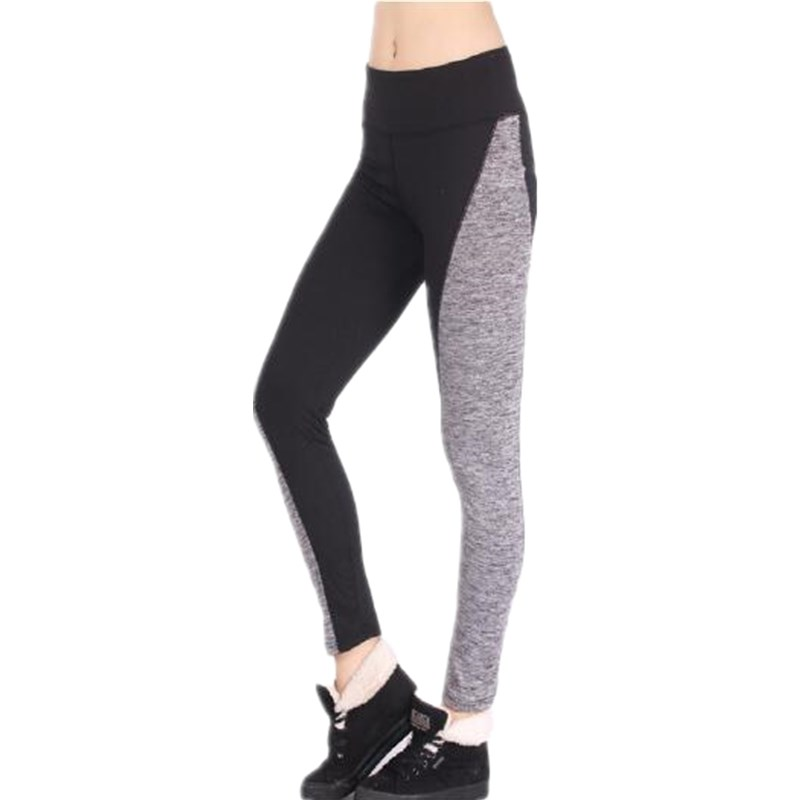 2016 women fitness leggings breathing on both sides of pants color any stitching flexibility exercises of female leggings 1407T1