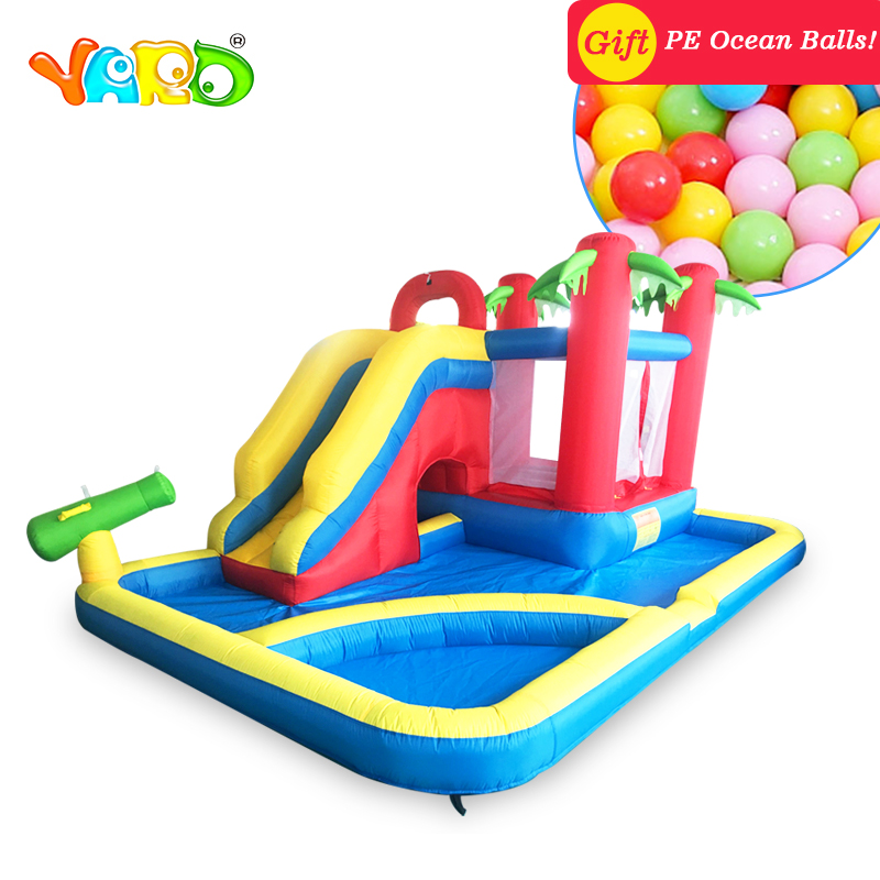 YARD Large Inflatable Castle Bouncer Slides Pool 3 In 1 Home Use 4.7*3.1*2.3M Inflatable Trampoline Christmas Gift Door To Door china guangzhou manufacturers selling inflatable slides inflatable castles inflatable bouncer chb 29