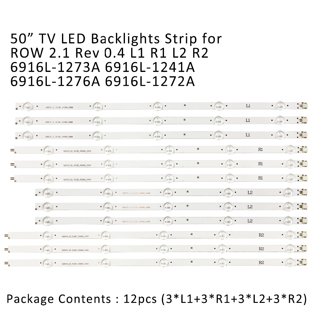 Led Backlight Strip For Lg 50 Inch Tv 10lamp 50ln5400 50la620v 6916l-1276a 6916l-1273a 6916l-1272a 6916l-1241a 50ln577s 50la620s Goods Of Every Description Are Available Computer & Office