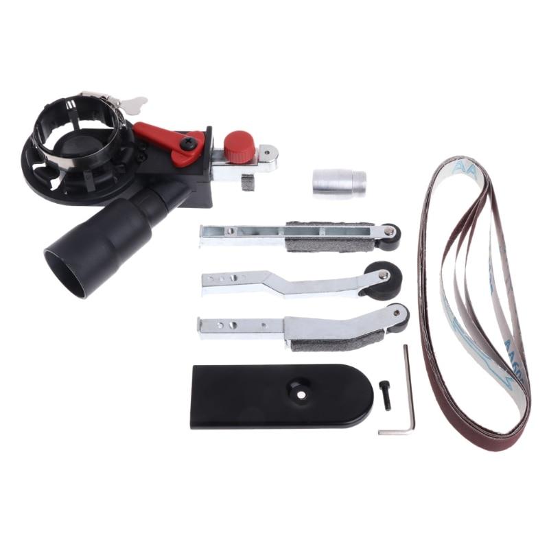 Sander Sanding Belt Adapter Head Convert M10 DIY For 100mm 4 Inch Electric Angle Grinder Polishing Tools 10mm 14mm belt sander head suitable for all kinds of angle grinder abrasive tools