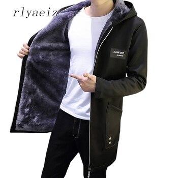 de hombre invierno 2017 Casual Parkas Rlyaeiz sólida chaqueta para 7nEpfwxqPS