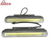 2pcs 12W Car COB LED DRL Daytime Running Light 6500K White Wateproof Auto Fog Lamp For