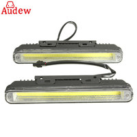 2pcs 12W Car COB LED DRL Daytime Running Light 6500K White Wateproof Auto Fog Lamp For