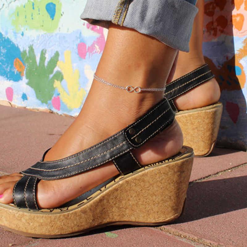 เงินสี Infinity 8 สร้อยข้อเท้าสร้อยข้อมือขาแฟชั่นฤดูร้อนชายหาดเครื่องประดับ Tobilleras De Plata Para Mujer