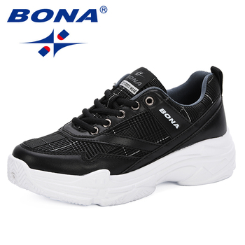 BONA 2019 New Style Running Shoes Woman Sport Shoes Women Sneakers Zapatos Corrientes De Verano Trendy Chaussure Homme De Marque 2