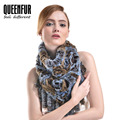 QUEENFUR Women Real Rex Rabbit Fur Scarves With Tassel Genuine Knitted Rabbit Fur Ring Shawl 2016 New Brand Warm Fur Scarf