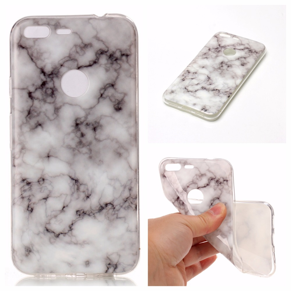 For Google Pixel XL Case Silicon Soft TPU Smooth Mable Marble Griotte Granite Moorstone Design Cover For Google Pixel