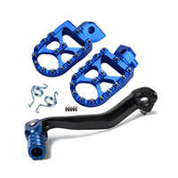 CNC Gear Shift Foot Lever Folding Tip Foot Pegs Rest Rear Sets Footrests Pedals Kit For YAMAHA YZ250F YZ450F YZ450FX WR450F