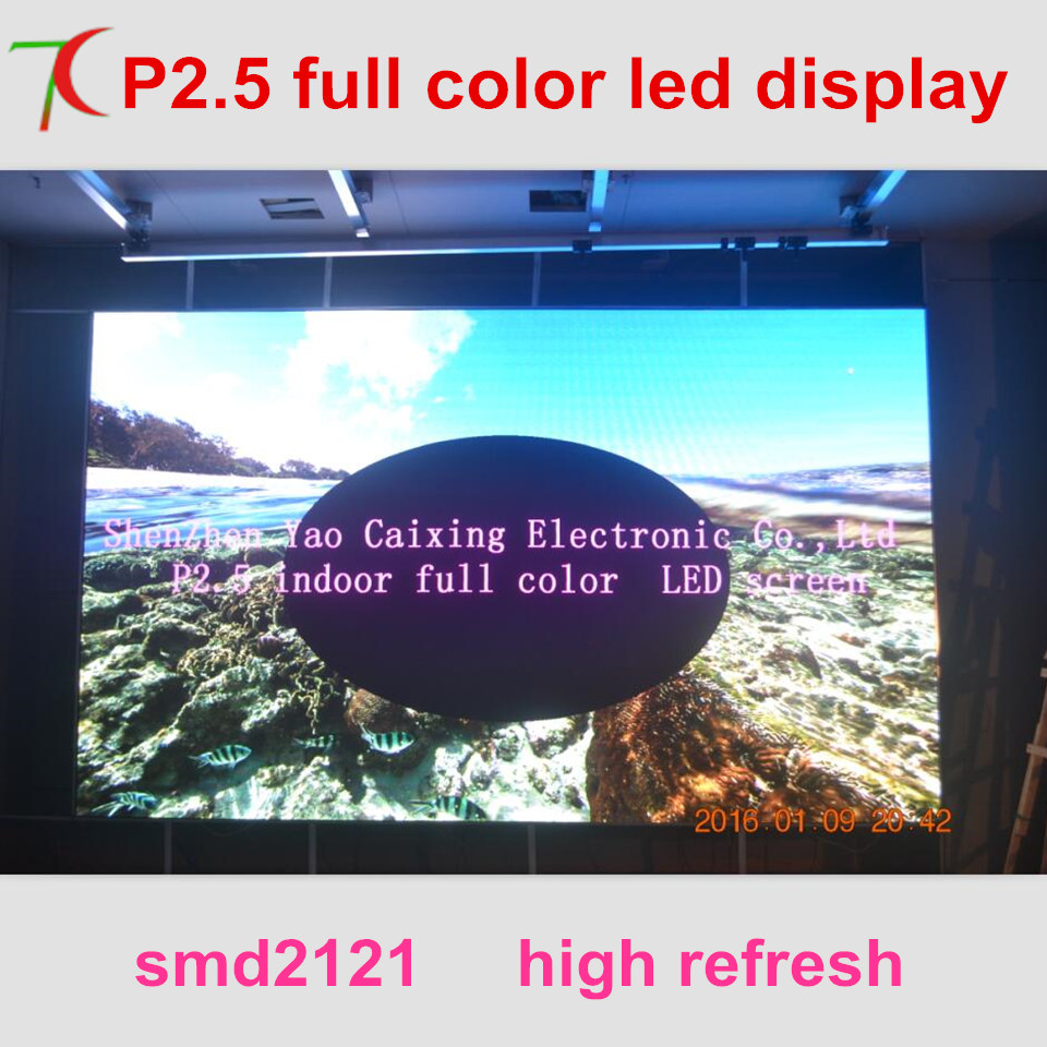 Smaller pitch P2.5 full color led screen widely use for led video wall in meeting room,multi-media classroom ...