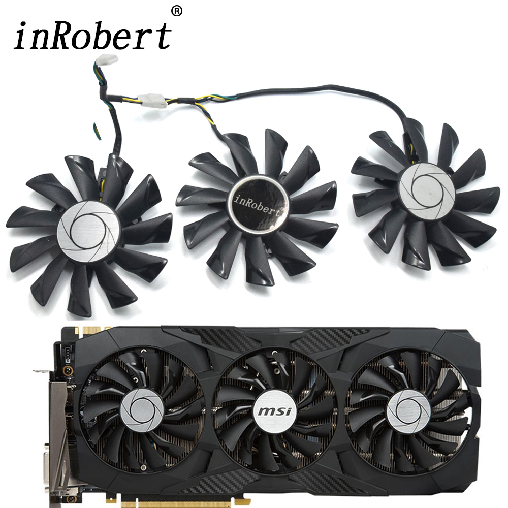 87mm PLD09210S12HH 0.4A Cooling Fan Replace For MSI GeForce GTX 1070 1060 1080 1080Ti 980Ti Duke Video Graphics Card Cooler Fans image