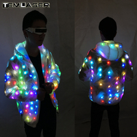 Colorful Led Luminous Costume Clothes Dancing LED Growing Lighting Robot Suits Clothing Men Event Party Supplies Stage Props