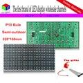 P10 одного синего HD из светодиодов для полу-открытый / Indoor 320 * 160 мм 32 * 16 пикселей матричный