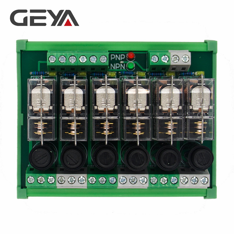 GEYA NGG2R Din Rail 6 Channel Relay Module with Fuse Protection Ormon Relay PLC Price in Relays from Home Improvement