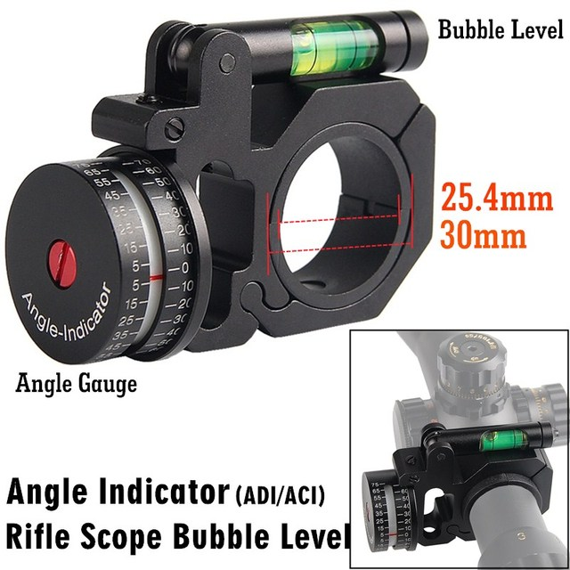 Scope Ring Angle Indicator Bubble Level Fit 25.4mm/30mm Scope Mount Rings for Optical Scope Sight Hunting HT2-0047 1