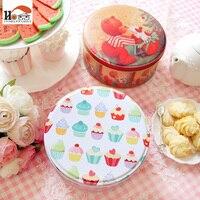 1pcs 6 Inch Handmade Cookies Candy Cake Box Candy Iron Receive Storage Box Wedding Favor Tin