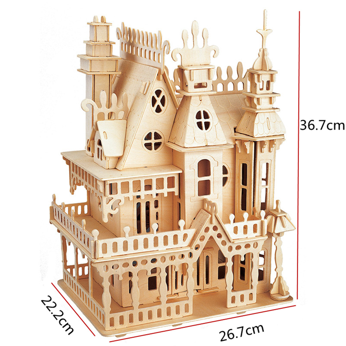 Architecture/diy House/mininatures Cheap Sale 1pc Kids Castle Model Miniature Assembly Crafting Diy Educational Artwork Gifts Building Block Toy Kits For Toy Kids Gift Toys & Hobbies