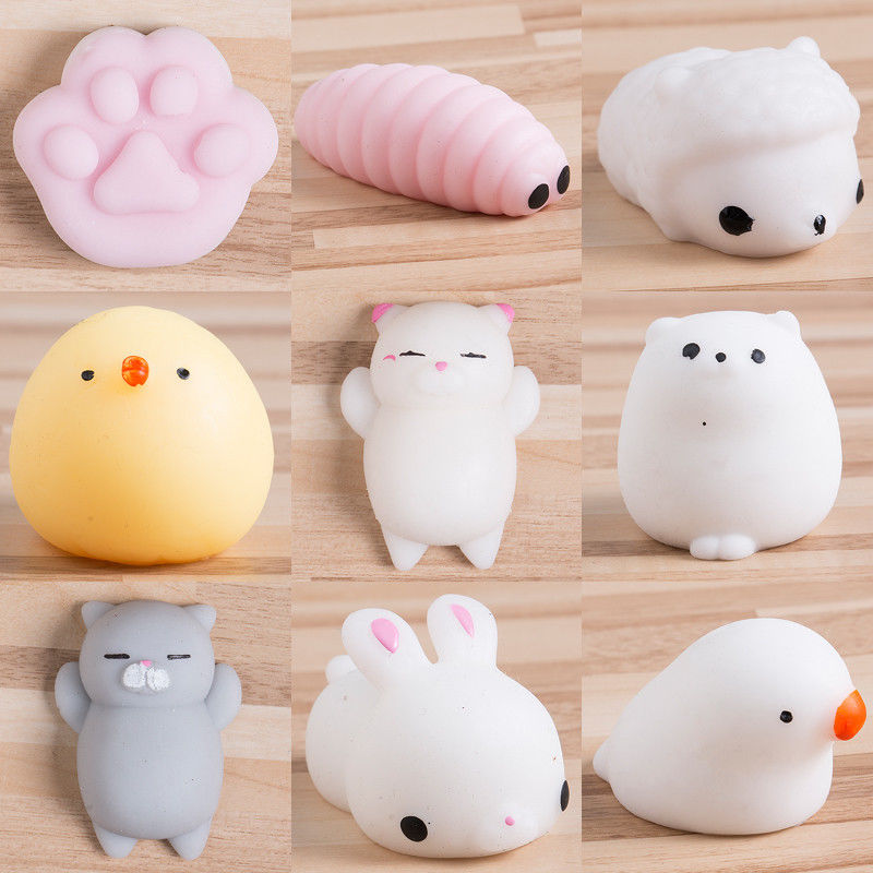 Kawaii Japan Squeeze Squishy Cat Fat Animals 11 Models to Choose Slow Rising Simulation Stress ...