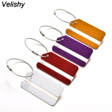 Velishy 1PC New travel accessories Suitcase Luggage Tags ID Address Holder Luggage Label Identifier bag accessories nice LD