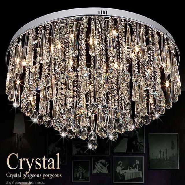 Moderne Runde Kristall Lampe Led Leuchten Wohnzimmer Deckenleuchten Warmes Schlafzimmer Kronleuchter Kostenloser