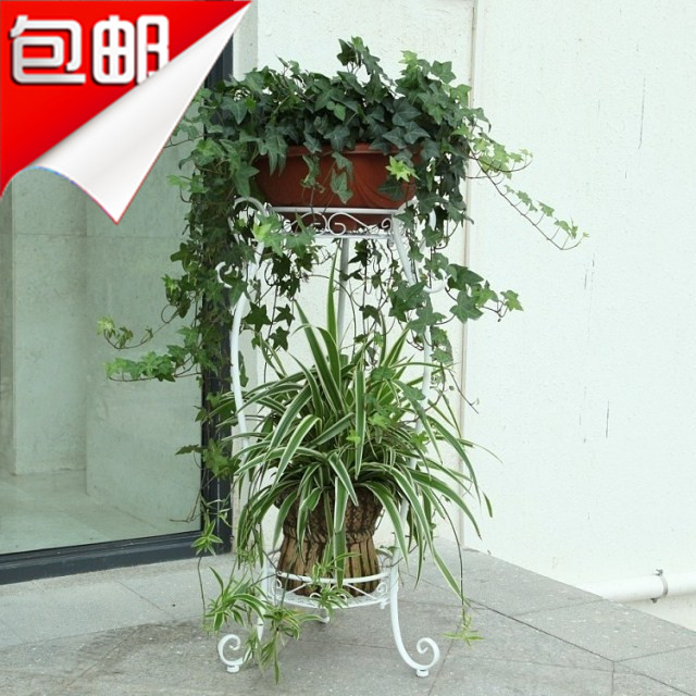 Pergola de sol mode fer fleur stand balcon pot titulaire français antique pots plateaux fer fleur vert plante stand
