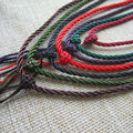 Free shipping 2Pcs/Lot Chinese Traditional Nylon Simply Design  Pendant Cord Rope for Necklace Multi-Color For Necklace