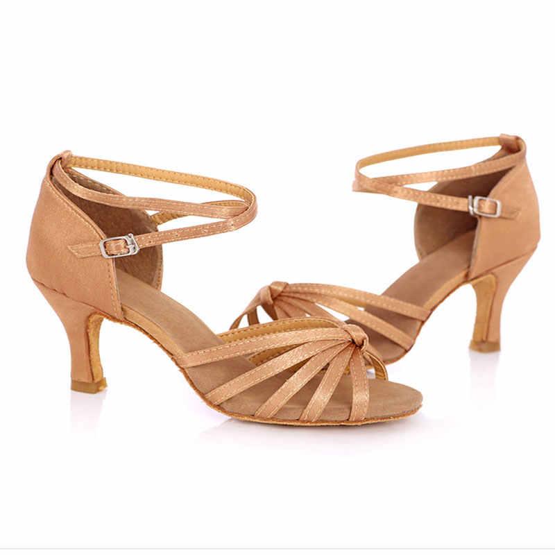 Salsa Latin Dance รองเท้าผู้หญิงหญิง Tango บอลรูมเต้นรำรองเท้ารองเท้าส้นสูงนุ่มรองเท้า 5/7 ซม. บอลรูมเต้นรำรองเท้าแตะ