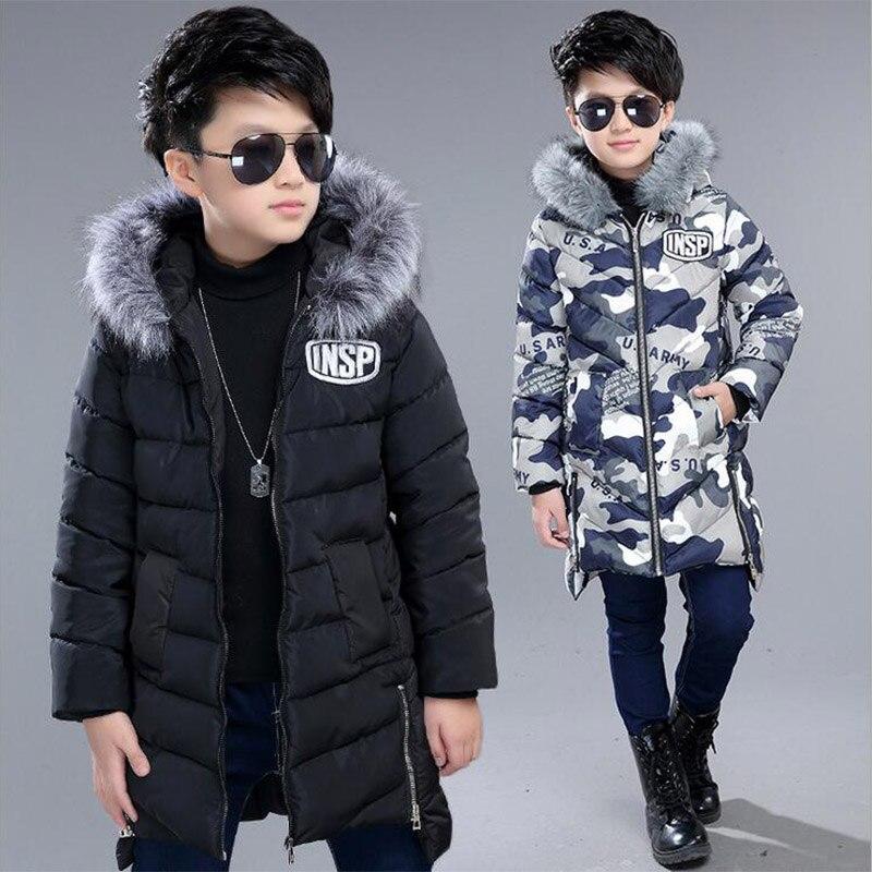 0e9aa1ec2901 2017 fashion new winter jacket for boy kids thicken hooded fur collar down  jacket children warm
