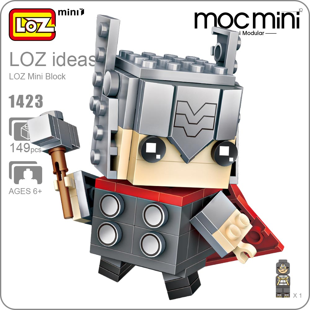 LOZ Mini Blocks Action Figure Superheroes Blocks Super Heroes Toys For Children Builds Educational Toys for Boy Gift Bricks 1423 dayan gem vi cube speed puzzle magic cubes educational game toys gift for children kids grownups
