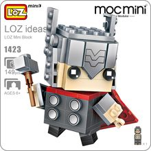 LOZ Mini Blocks Action Figure Superheroes Blocks Super Heroes Toys For Children Builds Educational Toys for Boy Gift Bricks 1423