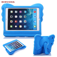 For Fundas IPad Air Kids Cover Lovely Elephant Drop Proof Non Toxic EVA Foam Stand Tablet