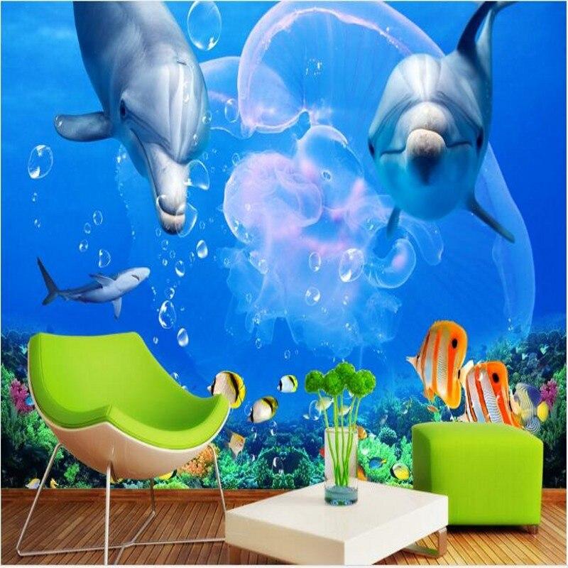 Beibehang Di Grandi Dimensioni Personalizzato Affresco Delfino