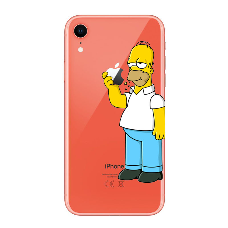 Simpson Soft Transparent clear TPU Case for Funda iPhone X Case 5S 6 6S 7 Plus X XS Max XR for Capa iPhone 8 Case in Phone Pouches from Cellphones Telecommunications