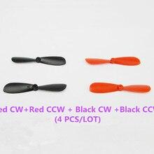 4 шт./лот K408 мини 45 мм CW/CCW красный черный вертолетные пропеллеры DIY пластиковая модель RC самолет игрушки моторные Россия