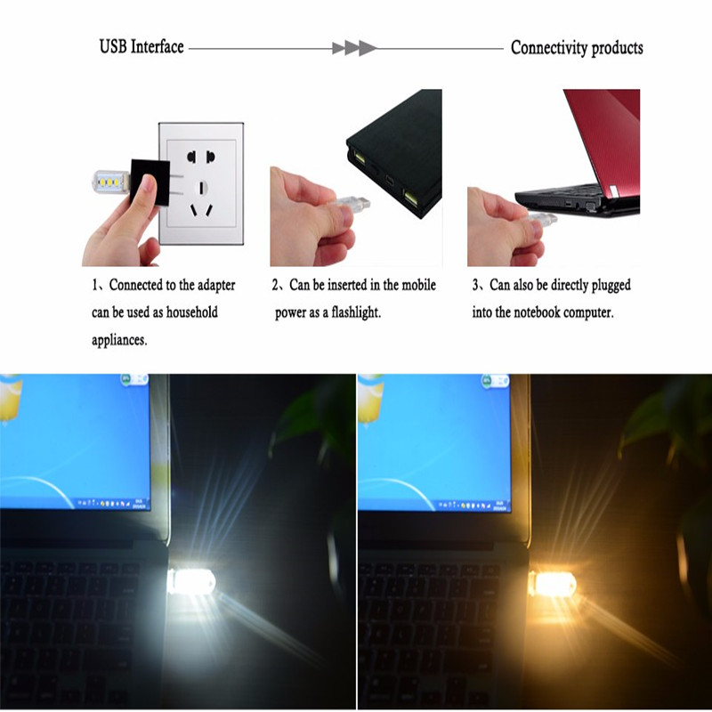 Flexible Portable USB 5V 2W LED Lamp For Computer Notebook Mini USB table lights Protect Eye Lights Gadget Novely light 5