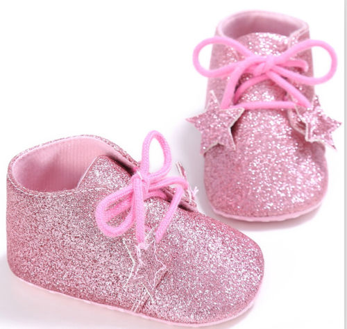 8a92fcd8942c Fashion Newborn Baby Girls Shoes Shiny Bling Soft Sole Casual Crib Shoes  Prewalker 0-18M