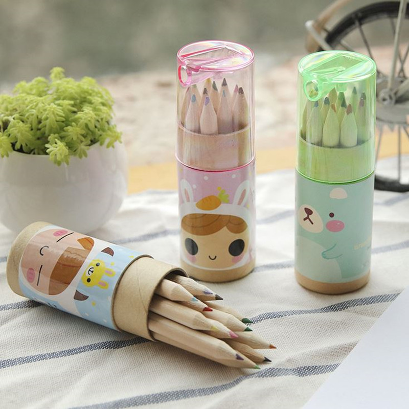 Coloffice 12pcs Box Cute Animals Colored Pencil Drawing Pen