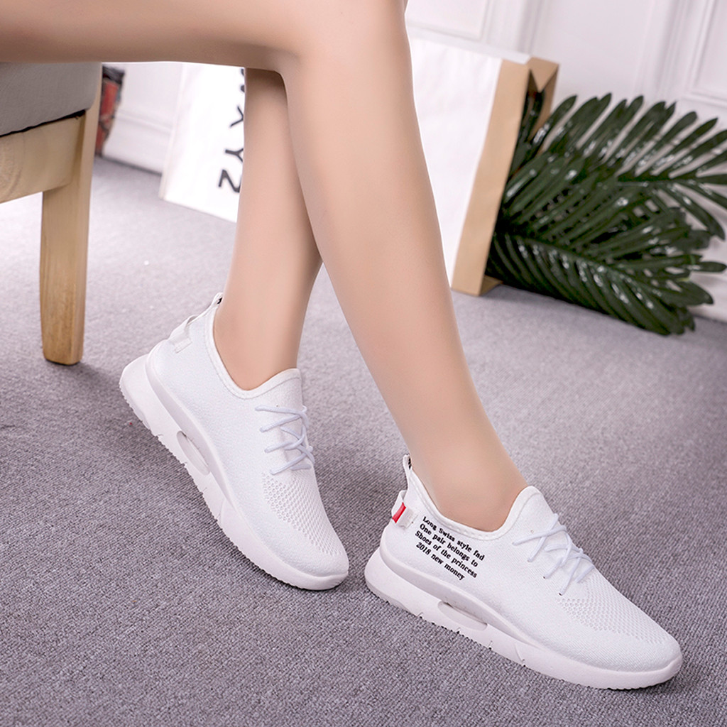 Sneakers Women Sport Shoes Spring And Autumn Flying Woven Sports Shoes Small White Women's Shoe Casual Shoe #1910
