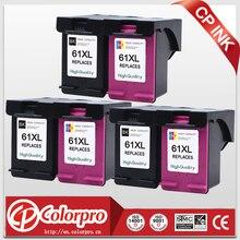 цена на 3set (3BK & 3C) remanufactured ink cartridge for hp61XL showing ink level for hp DeskJet 1000 1050 2000 2050 3000 3050