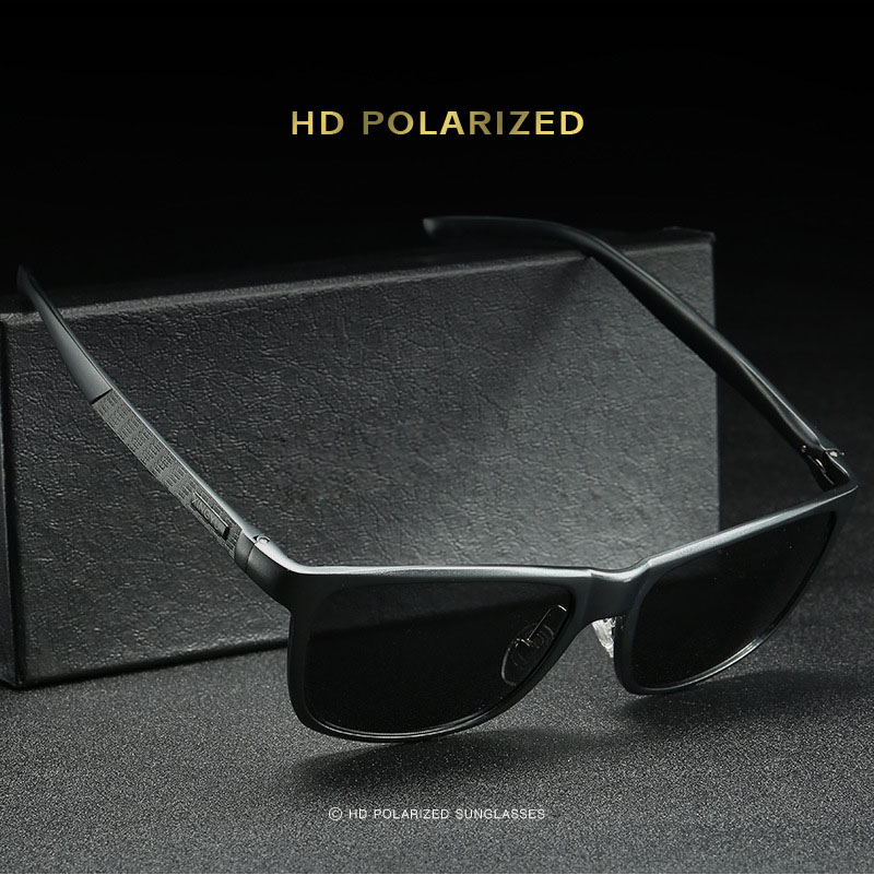 Bruno dunn Sunglasses Men Polarized 2020 Luxury Brand square metal frame male sun glasses oculos de sol masculino 2140 ray uv400 3