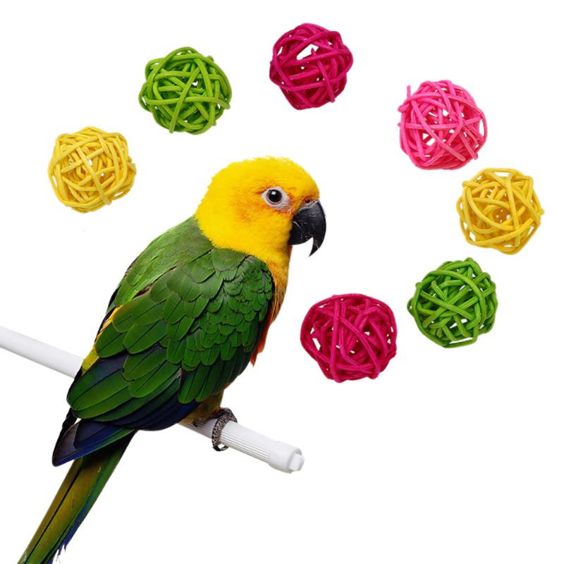 Us 4 24 15 Off 10 Pcs Set Random Colorful Circular Balloons Pet Bird Toys Parrot Favorite Interactive And Chew Diy Accessorie In Bird Toys From Home