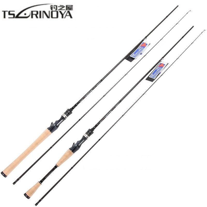 TSURINOYA Casting Fishing Rod 1.95m 2 Section L Power Carbon Fiber Lure Rod Fishing Pole Action XF Vara De Pesca Lure Wt. 2-10g