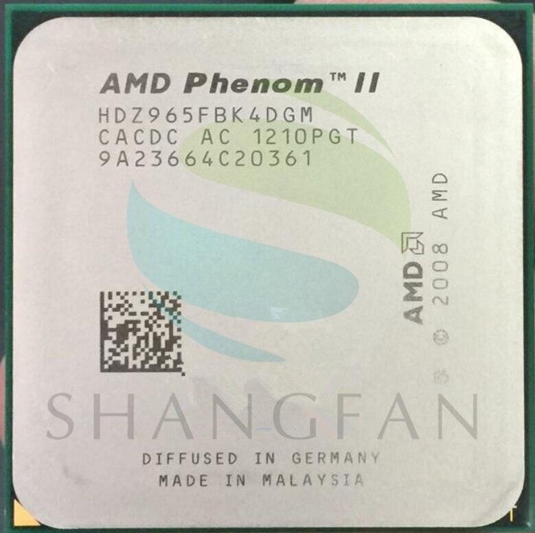 AMD Phenom X4 965 3.4 GHz Quad-Core processeur d'unité centrale X4 965 HDZ965FBK4DGM 125 W Prise AM3 938pin