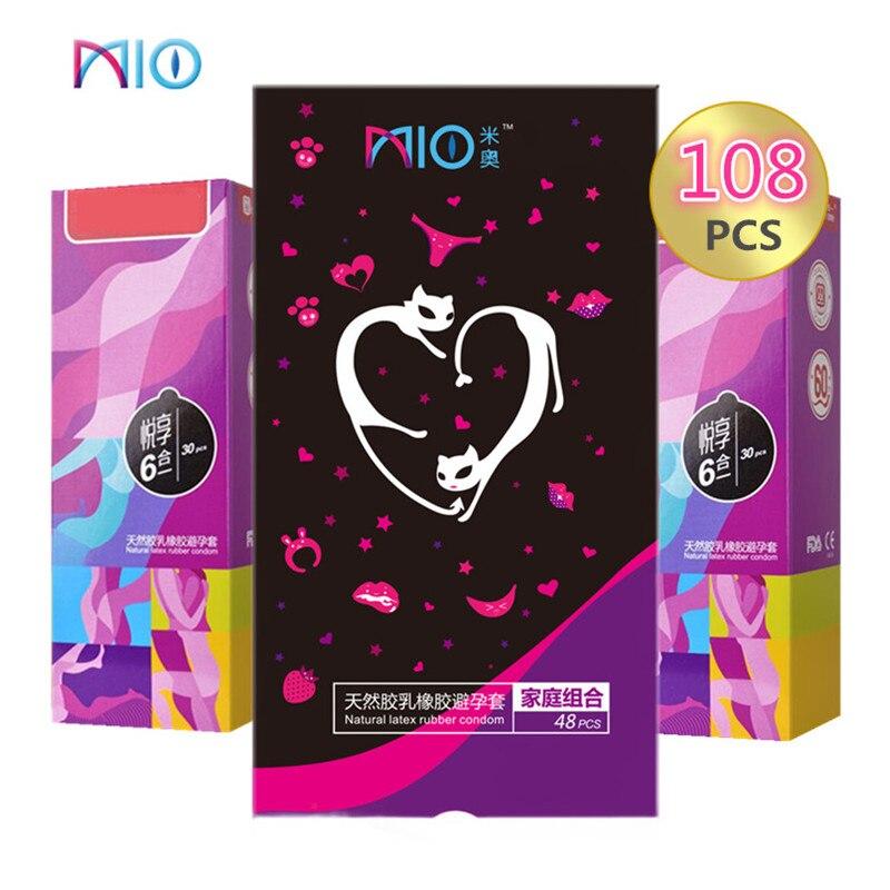 Mio 100 pçs preservativos para homem vários tipos lubrificado espiral espiga preservativos látex natural contracepção kondom sex products shop