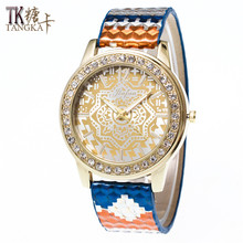 High-quality Fashion new Set auger Women's watches Needle buckle leather strap Luxury ladies quartz watch relogios feminino