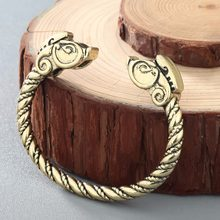 CHENGXUN Viking Bracelet Male Pagan Jewellery Dragon Open Wristband Cuff Bangle For Man and Women Jewelry(China)
