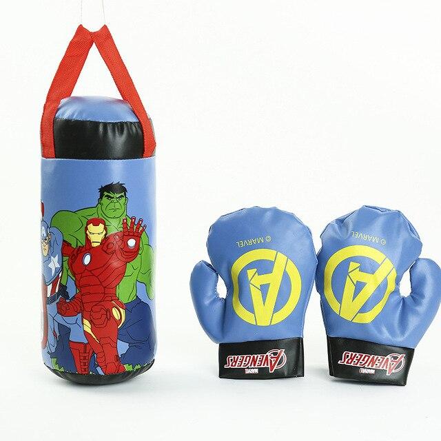 NEW Marvel Superhero Spiderman Homem-Aranha Vingadores Hulk Luvas das Crianças Genuínos Luvas de Boxe Brinquedos de Descompressão