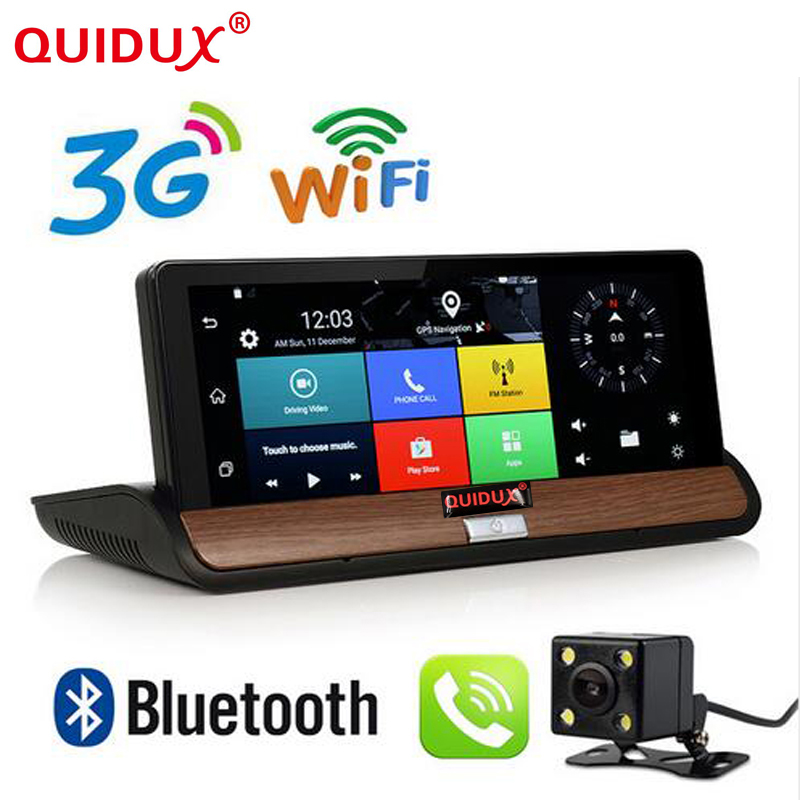 7 Inch 3G DVR Android Car Truck Dashboard GPS Navigation Bluetooth WiFi Dual Camera Rear View