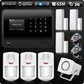 G90B 2 4G WiFi 3G SIM Karte GSM GPRS SMS Wireless Home Haus Sicherheit Intruder Alarm System Sirene PIR Und Tür Detektor-in Alarm System Kits aus Sicherheit und Schutz bei