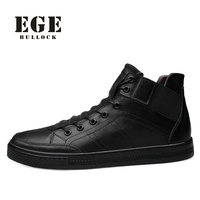 EGE Brand New Arrival Handmade Men Ankle Boots Genuine Leather Spring Causal Male Shoes 12130